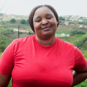 Jabu Jwasa loves her work as a carer at Woza Moya