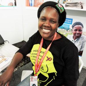 NACOSA member, Mpho Lekgetho from Marang Career Development Centre stopped by to say hello